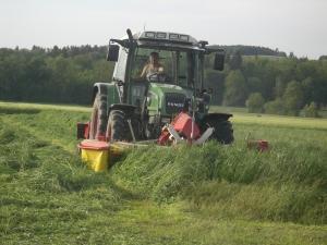 Futterbau-Gras mähen
